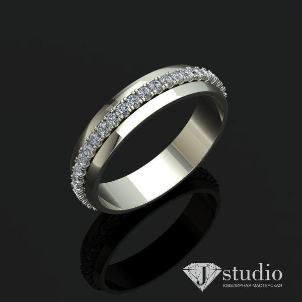 Ювелирный салон jstudio Золотое кольцо с вращающимся центром Ю-061К - фото 3