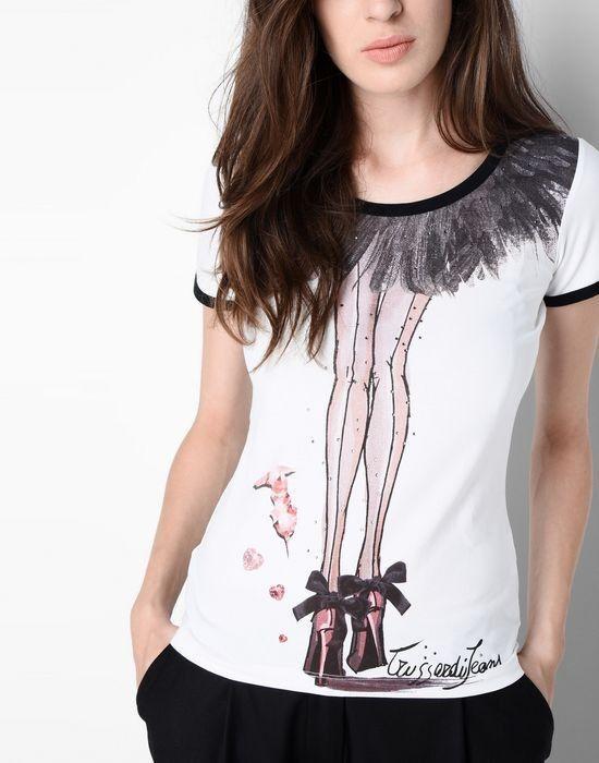 Кофта, блузка, футболка женская Trussardi Футболка женская 56T58 _5156T5 - фото 4