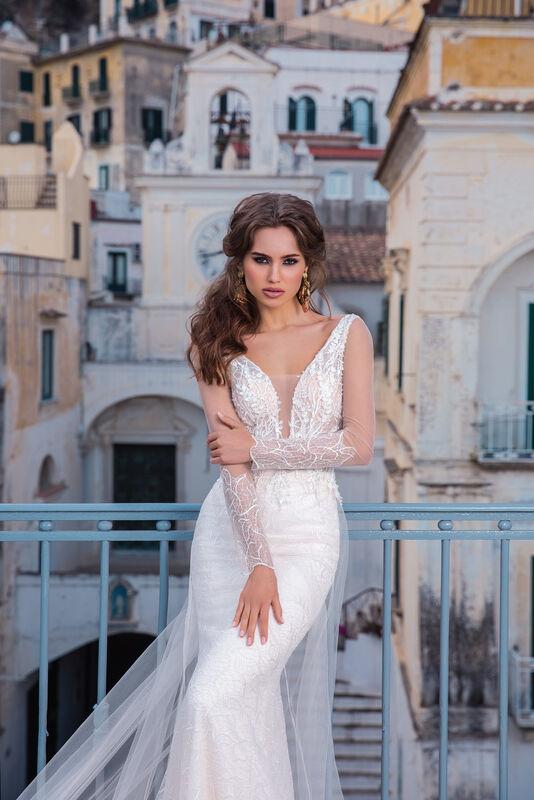 Свадебный салон Bonjour Galerie Свадебное платье EVILA из коллекции NEW COLLECTION - фото 2