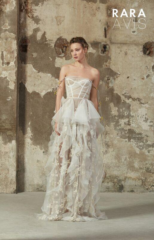 Свадебное платье напрокат Rara Avis Платье свадебное Floral Paradise  Bertel - фото 1