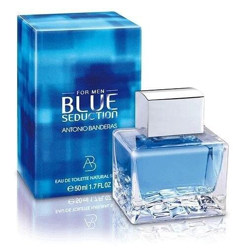 Подарок на Новый год Antonio Banderas Вода туалетная Blue Seduction Men, 100 мл - фото 1