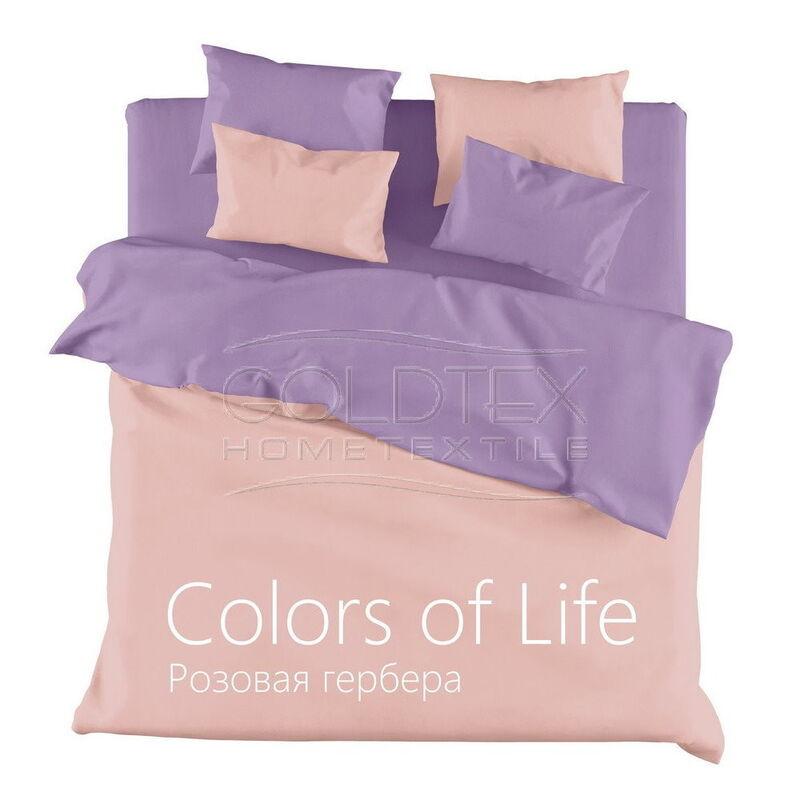 Подарок Голдтекс Однотонный сатин 2.0 сп. «Color of Life» Розовая Гербера - фото 1