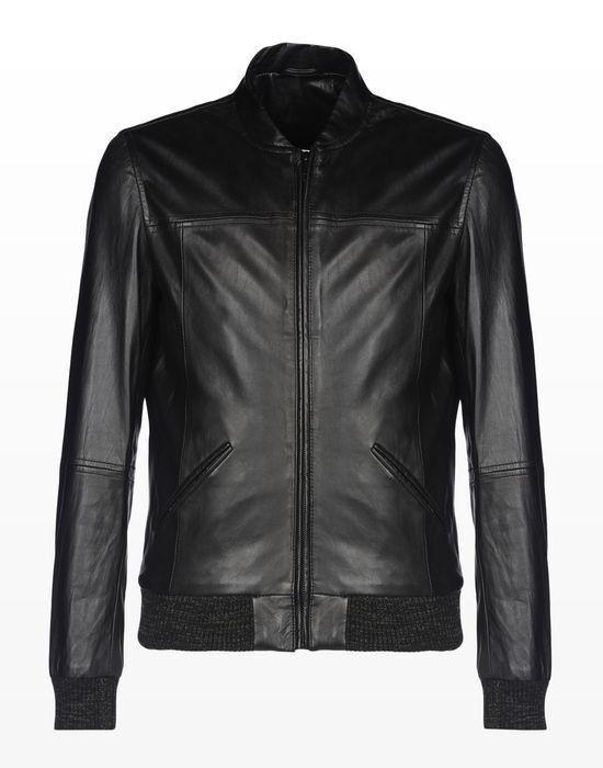 Верхняя одежда мужская Trussardi Кожаная куртка-бомбер мужская 52S09 _510070 - фото 1