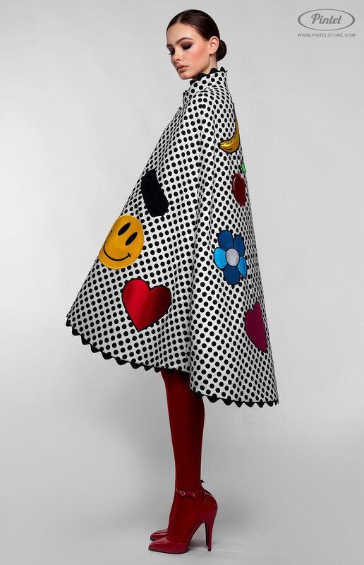 Верхняя одежда женская Pintel™ Романтичный кейп в горошек Jacqueline - фото 3