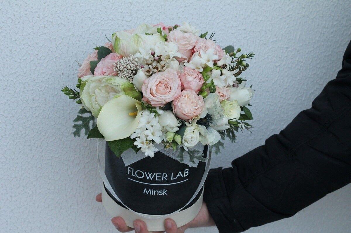 Магазин цветов Cvetok.by Композиция «Калла и гиацинт» - фото 3