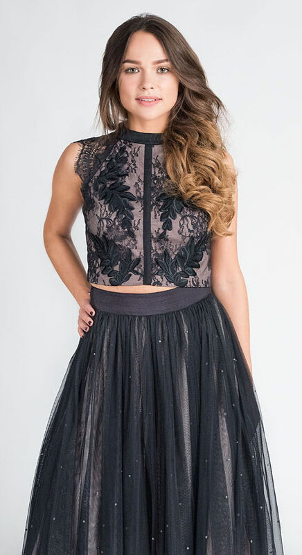 Вечернее платье Coast Кружевной топ и юбка 578 - фото 2
