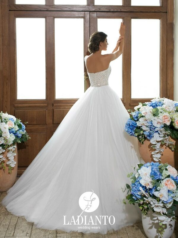 Свадебное платье напрокат Ladianto Платье свадебное Adelaide D-7117 Abelarda - фото 2