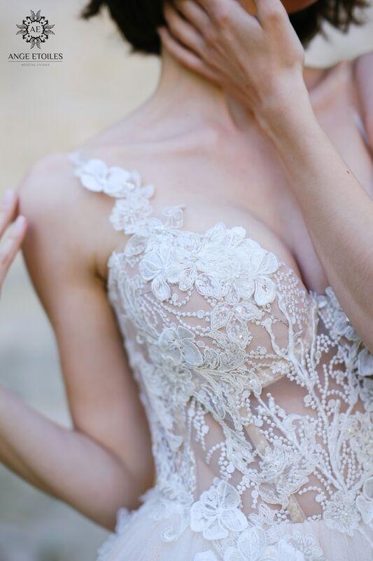 Свадебное платье напрокат Ange Etoiles Платье свадебное AEriality Collection  Lilian - фото 3