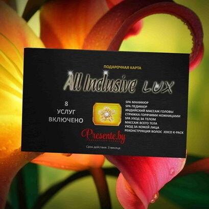 Магазин подарочных сертификатов Egoist&ka Подарочный набор «All Inclusivе LUX» (8 услуг включено) - фото 1