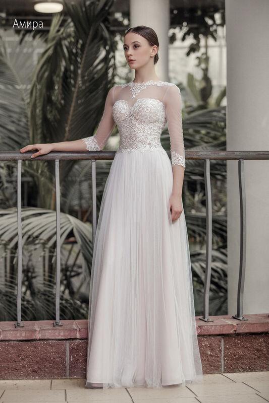 Свадебное платье напрокат Vintage Платье свадебное «Амира» - фото 1