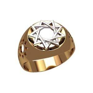 Ювелирный салон jstudio Печатка золотая с узором 30238 - фото 1