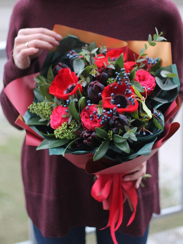 Магазин цветов Cvetok.by Букет «Страстный красный» - фото 1
