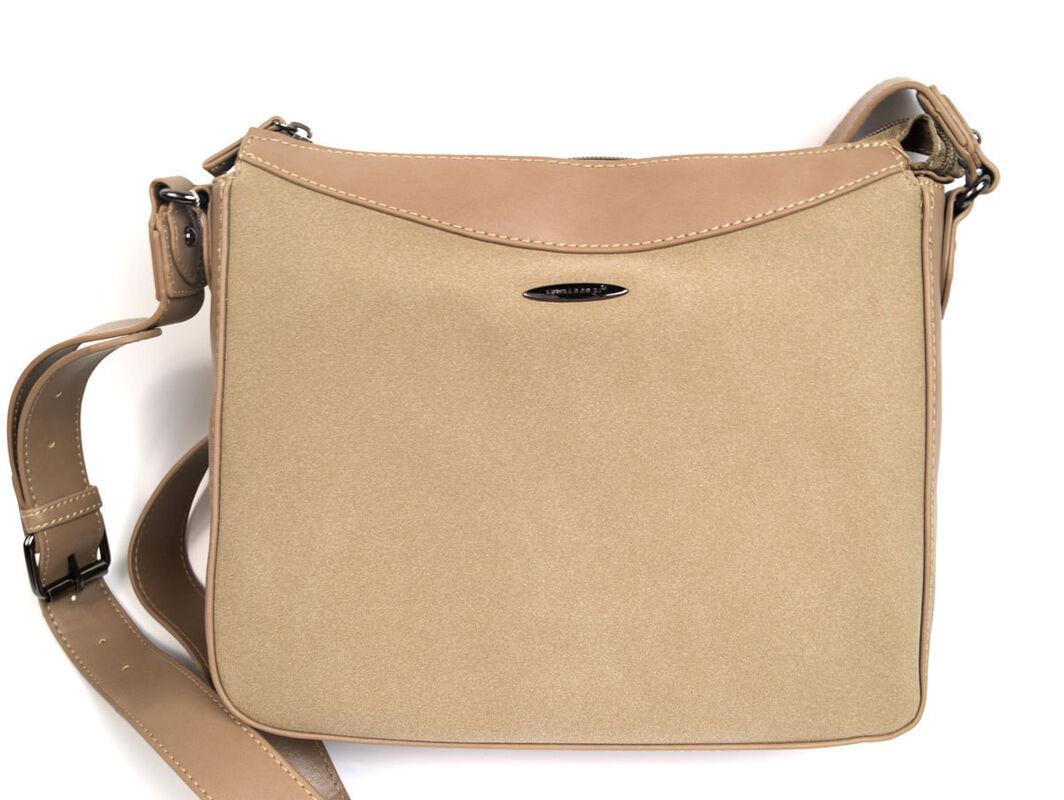 Магазин сумок David Jones Сумка женская бежевая 5612-1 - фото 1