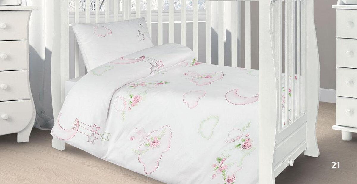 Подарок Ecotex Комплект постельного белья в детскую кроватку арт. 21 - фото 1