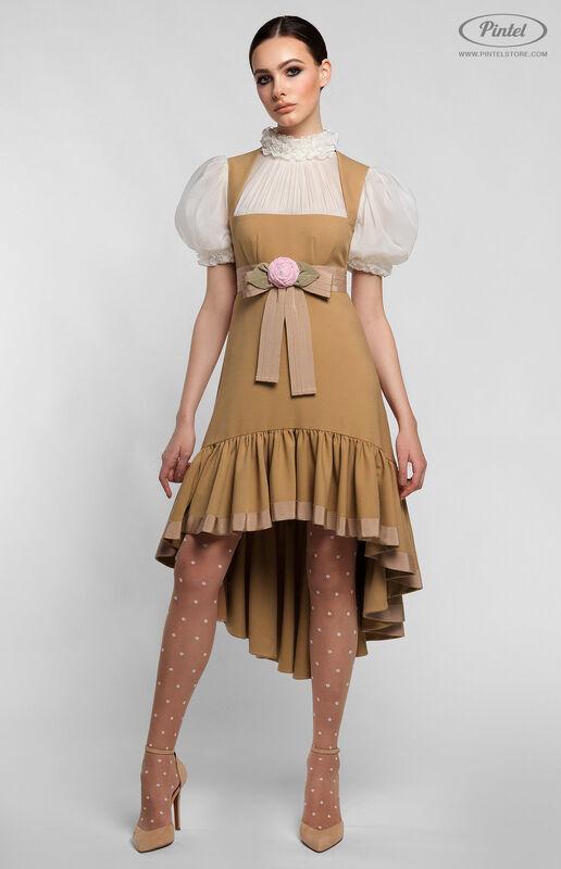 Платье женское Pintel™ Комбинированное приталенное платье VLASTYA - фото 1