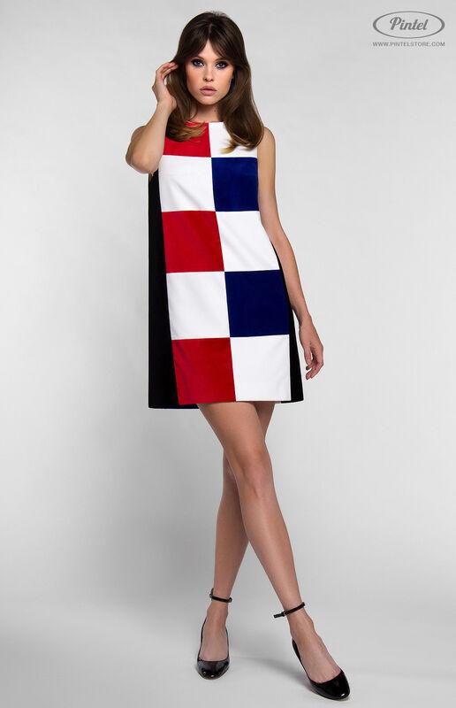 Платье женское Pintel™ Комбинированное мини-платье PATRÍCIA - фото 1