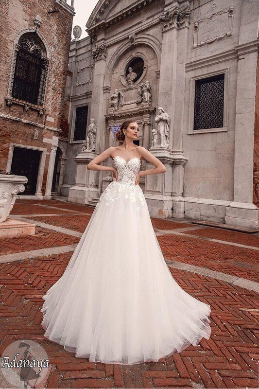 Свадебное платье напрокат Bonjour Платье свадебное «Adanaya» из коллекции LE DELICE 2018 - фото 1