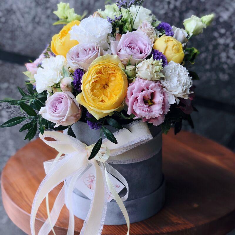 Магазин цветов Кошык кветак Коробочка классическая №14 - фото 1