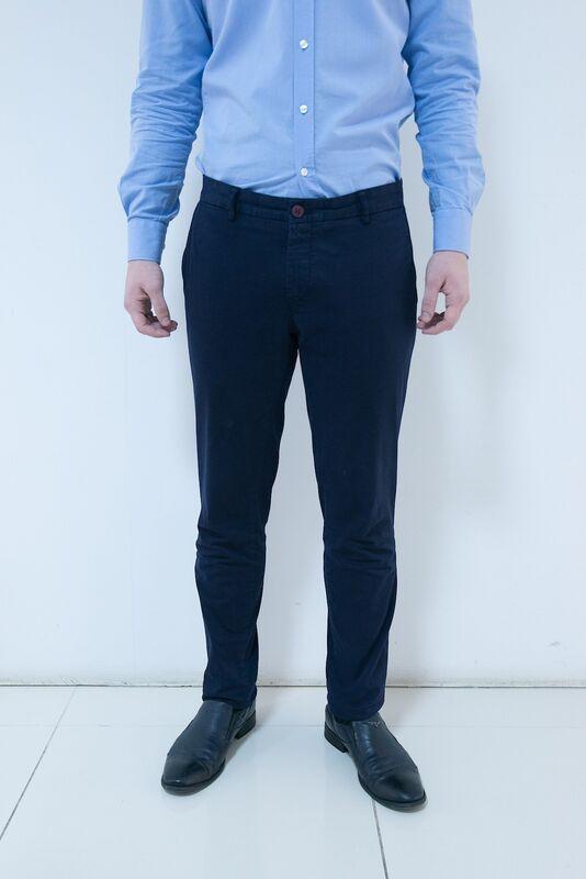 Брюки мужские AKCENT Чиносы темно-синие - фото 1