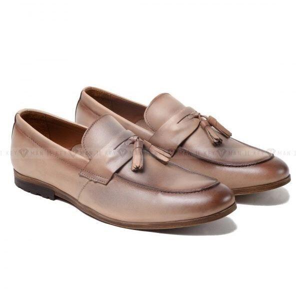 Обувь мужская Keyman Туфли мужские лоферы кремовые - фото 1