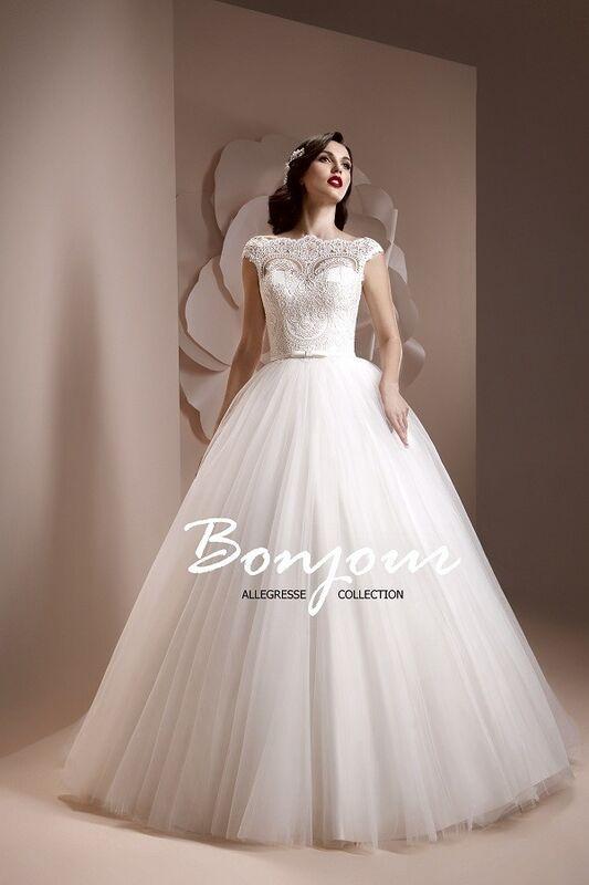 Свадебное платье напрокат Bonjour Платье свадебное «Elmira» из коллекции ALLEGRESSE 2017 - фото 3