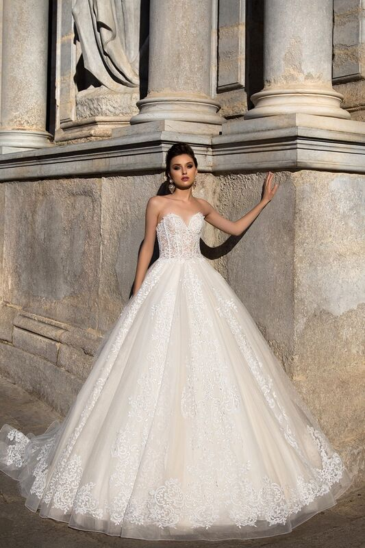 Свадебное платье напрокат Bonjour Платье свадебное «Apollo» из коллекции LA SENSUALITE 2017 - фото 3