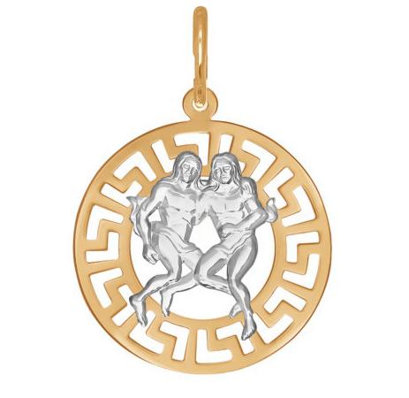 Ювелирный салон Sokolov Подвеска «Знак зодиака Близнецы» из золота 031296 - фото 1