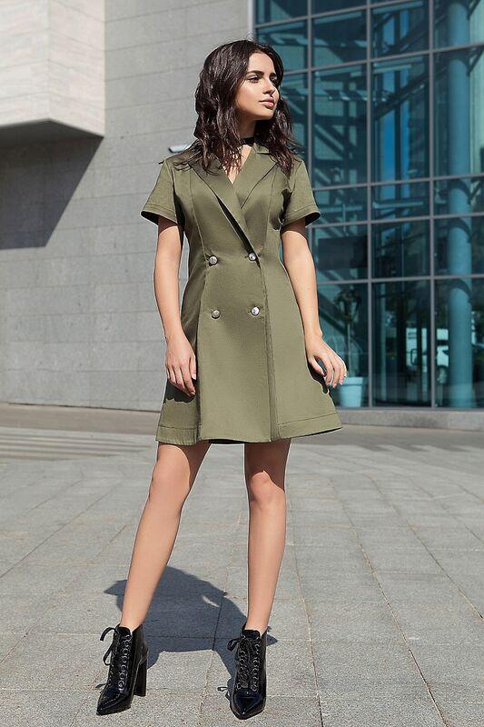 Платье женское SL.IRA Платье с запахом на пуговицах - фото 1