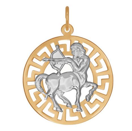 Ювелирный салон Sokolov Золотая подвеска «Знак зодиака Стрелец» 031243 - фото 1