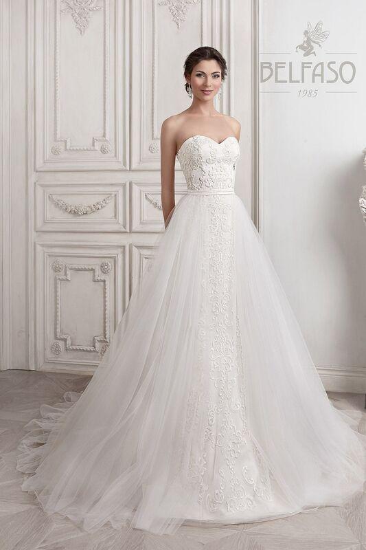 Свадебное платье напрокат Belfaso Платье свадебное Djovanna - фото 4