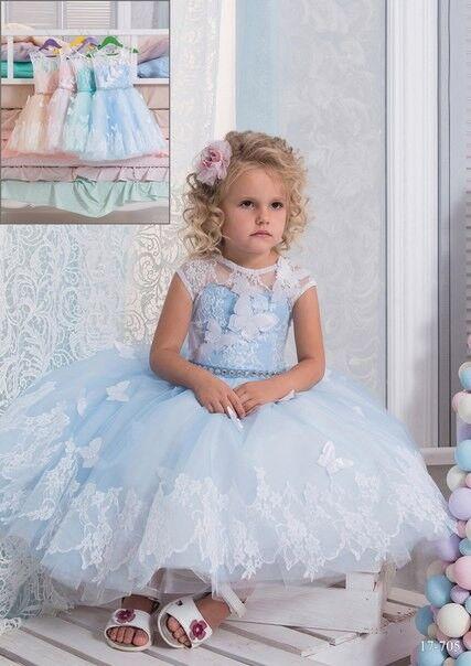 Вечернее платье Childrendress Пышное нарядное детское платье 0007-16 - фото 1