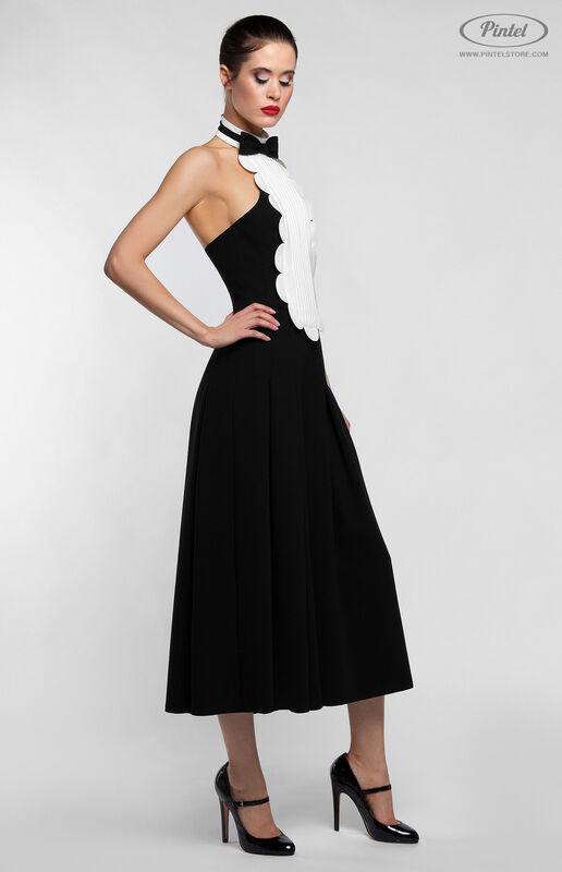Брюки женские Pintel™ Чёрный приталенный комбинезон без рукавов Belange - фото 3