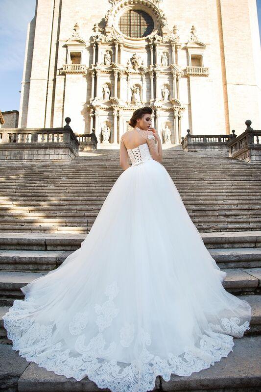 Свадебное платье напрокат Bonjour Платье свадебное «Dolores» из коллекции LA SENSUALITE 2017 - фото 2