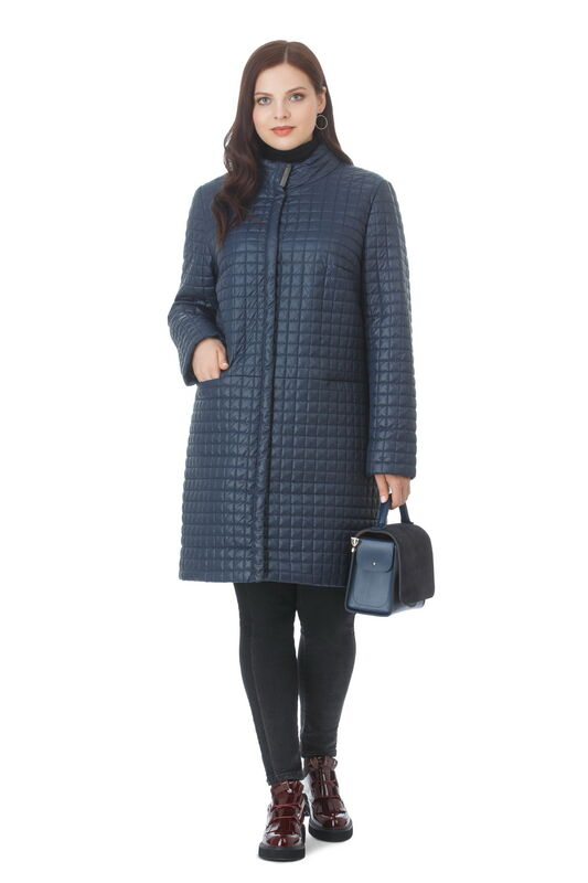 Верхняя одежда женская Elema Пальто женское плащевое утепленное Т-70991 - фото 1