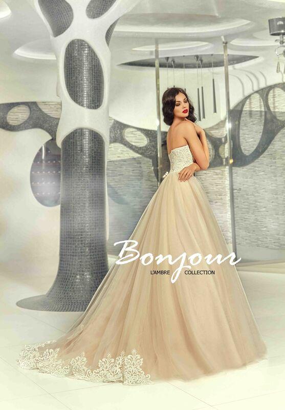 Свадебное платье напрокат Bonjour Платье свадебное «Demi» из коллекции LAMBRE 2017 - фото 2