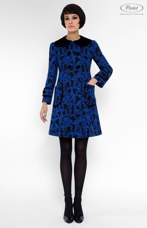 Верхняя одежда женская Pintel™ Двубортное жаккардовое мини-пальто Vania - фото 1