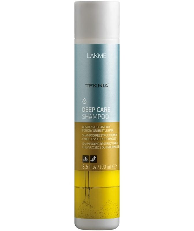Уход за волосами Lakme Восстанавливающий шампунь для ломких и поврежденных волос Teknia Deep Care Shampoo 100 мл - фото 1