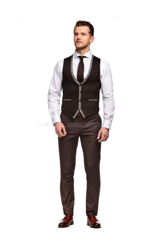 Пиджак, жакет, жилетка мужские Keyman Жилет мужской черно-серый меланж - фото 2