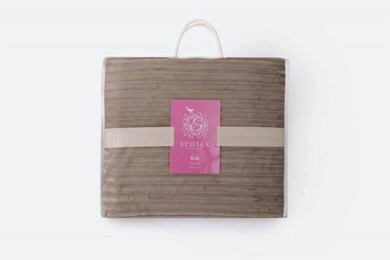 Подарок Ecotex Декоративный флисовый плед 180х200 Bali Коричневый - фото 3