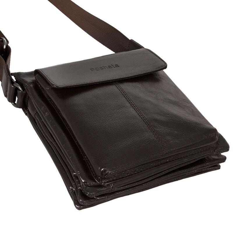 Магазин сумок Poshete Сумка мужская коричневая 186-7040А - фото 2