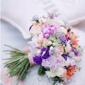 Магазин цветов Ветка сакуры Свадебный букет № 113 - фото 1
