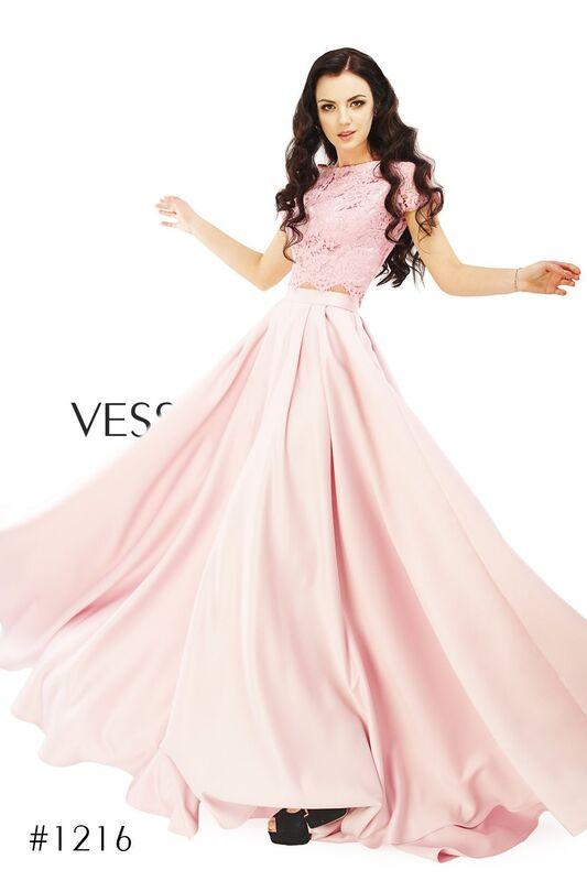 Вечернее платье Vessna Топ кружевной и Юбка длинная арт.1216 из коллекции VESSNA Party - фото 1