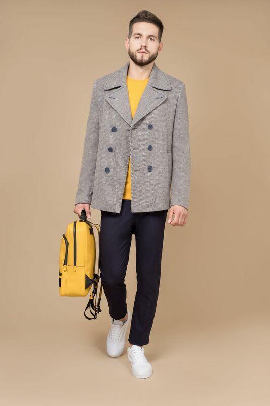 Верхняя одежда мужская Etelier Пальто мужское демисезонное 1М-8528-1 - фото 1