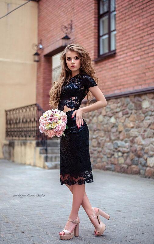 Вечернее платье Shkafpodrugi Топ и юбка из кружева с микро-пайетками - фото 2