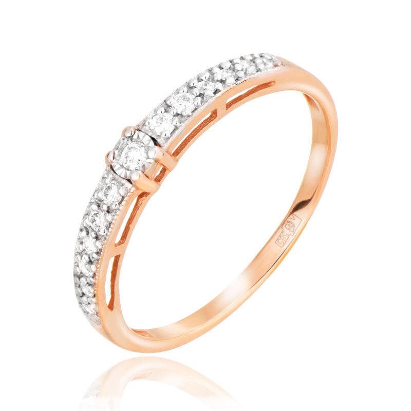Ювелирный салон Jeweller Karat Кольцо золотое с бриллиантами арт. 3213048/9 - фото 1