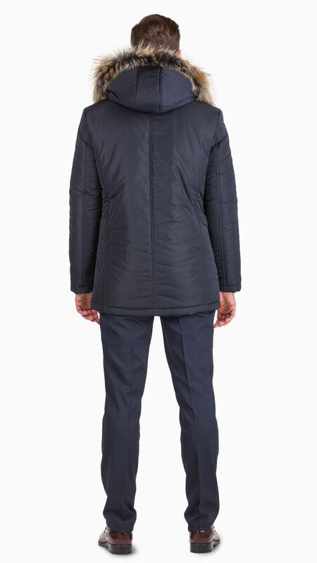 Верхняя одежда мужская HISTORIA Куртка утепленная темно-синяя с капюшоном WJ.Bld.Cri001 - фото 2