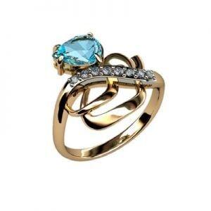 Ювелирный салон jstudio Золотое кольцо c цветными фианитами  10230 - фото 1
