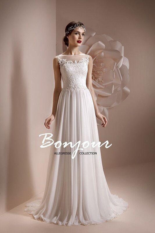 Свадебное платье напрокат Bonjour Платье свадебное «Lerdes» из коллекции ALLEGRESSE 2017 - фото 3