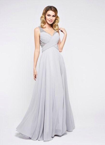 Вечернее платье Jan Steen Вечернее платье 0896 (серебро) - фото 1