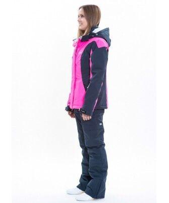 Спортивная одежда Free Flight Женская горнолыжная мембранная куртка розово-черная - фото 3